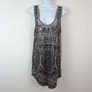 SILENCE + NOISE URBAN OUTFITTERS SEQUINED TANK TOP
